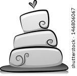 illustration of wedding cake in ... | Shutterstock .eps vector #146806067