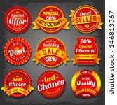 set of  luxury vector sale... | Shutterstock .eps vector #146813567