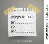 things to do. list items on... | Shutterstock .eps vector #146833877