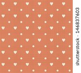 abstract hearts polka dot... | Shutterstock .eps vector #146837603