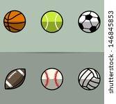 stylized sport balls | Shutterstock .eps vector #146845853