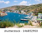 view of the bay of balaklava in ... | Shutterstock . vector #146852903