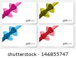 gift cards with colorful ribbon ...   Shutterstock .eps vector #146855747