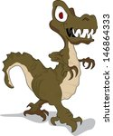 dinosaur cartoon on white... | Shutterstock .eps vector #146864333