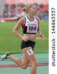 Small photo of DONETSK, UKRAINE - JULY 13: Robyn Buckingham of Canada competes in the 800 metres in Heptathlon girls during 8th IAAF World Youth Championships in Donetsk, Ukraine on July 13, 2013