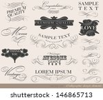 calligraphic design elements... | Shutterstock .eps vector #146865713