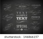 chalk  typography  calligraphic ... | Shutterstock .eps vector #146866157