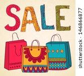 vector sale banner background... | Shutterstock .eps vector #146866877