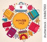 vector sale bags banner... | Shutterstock .eps vector #146867003