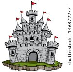 old medieval stone castle... | Shutterstock .eps vector #146872277