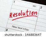 resolutions for the new year... | Shutterstock . vector #146883647