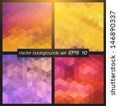 geometric patterns set.... | Shutterstock .eps vector #146890337
