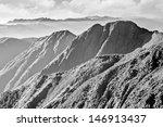 Mountain Landscape In Black An...