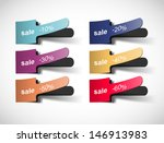 sale collection of stickers ... | Shutterstock .eps vector #146913983