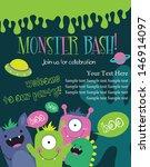 monster party card design....   Shutterstock .eps vector #146914097