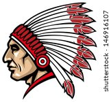 american native chief head   Shutterstock .eps vector #146916107