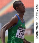Small photo of DONETSK, UKRAINE - JULY 12: Vitor Hugo dos Santos of Brazil win the heat in 200 metres during 8th IAAF World Youth Championships in Donetsk, Ukraine on July 12, 2013