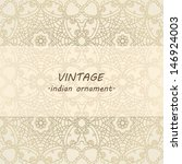 lace pattern background with ... | Shutterstock .eps vector #146924003
