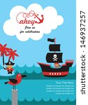 pirate party invitation card... | Shutterstock .eps vector #146937257