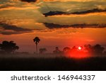 orange sunrise layers clouds... | Shutterstock . vector #146944337