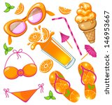 summer icon set | Shutterstock .eps vector #146953667