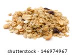 pile of granola cereal with... | Shutterstock . vector #146974967