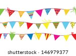 seamless pattern with bunting... | Shutterstock .eps vector #146979377