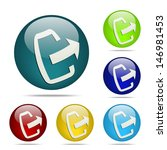 upload sphere button   icon