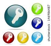 key sphere button   icon
