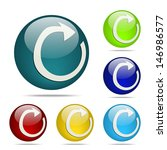 refresh sphere button   icon | Shutterstock .eps vector #146986577