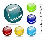 film strip sphere button   icon