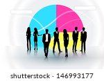 people on the graph background | Shutterstock .eps vector #146993177