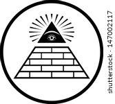 illuminati masonic symbol... | Shutterstock .eps vector #147002117