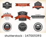premium quality and guarantee... | Shutterstock . vector #147005393