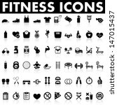 fitness icons | Shutterstock .eps vector #147015437