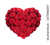 Red Rose Heart Isolated On White