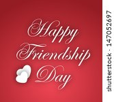 happy friendship day text on... | Shutterstock .eps vector #147052697