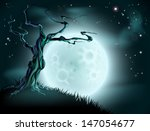 a spooky scary blue halloween... | Shutterstock .eps vector #147054677