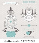 vector collection of wedding... | Shutterstock .eps vector #147078773