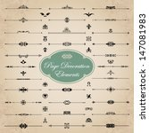 page decoration elements   Shutterstock .eps vector #147081983