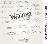 vector set of calligraphic... | Shutterstock .eps vector #147088883
