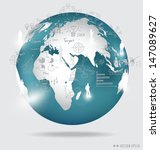 modern globe with elements of... | Shutterstock .eps vector #147089627