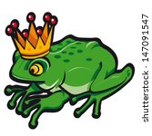 vector illustration of crowned... | Shutterstock .eps vector #147091547