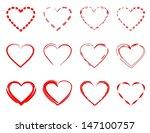 red hearts | Shutterstock .eps vector #147100757