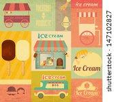 ice cream dessert vintage menu... | Shutterstock .eps vector #147102827