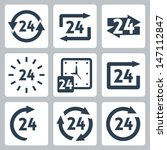 vector '24 hours' icons set | Shutterstock .eps vector #147112847
