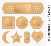 vector adhesive bandage set | Shutterstock .eps vector #147124367