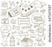 dogs and dog accessories... | Shutterstock .eps vector #147147437