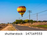 colorful hot air balloon flying ... | Shutterstock . vector #147169553