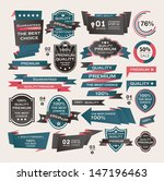 set of vintage labels ribbon  ... | Shutterstock .eps vector #147196463